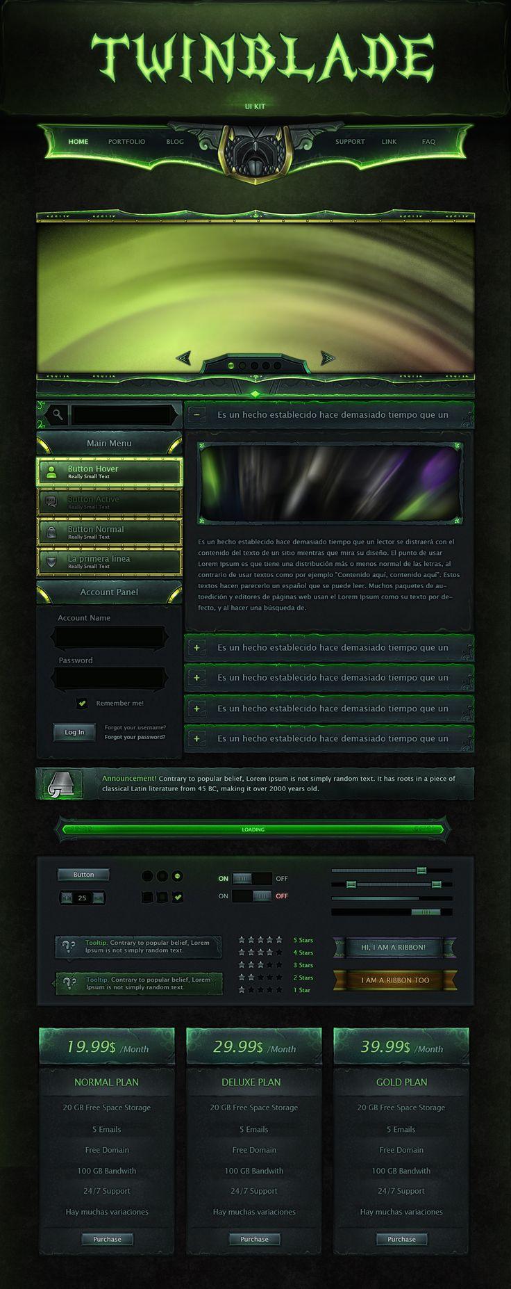 Twinblade UI 2.0 by VengeanceMK1.deviantart.com on @DeviantArt