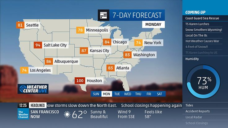 The Weather Channel The weather channel, Weather, 7 day