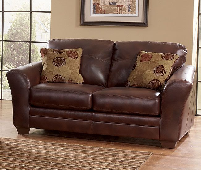 Ashley Furniture Industry: Kella Leather Loveseat
