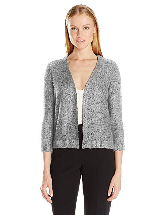 ac002fb16a9c6 Jones New York Women s Sequin Tunic Sweater