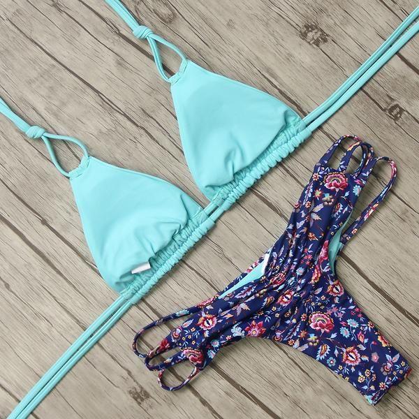 ec68e0eeb9 Sexy Bandage Bikini - Pink Picot
