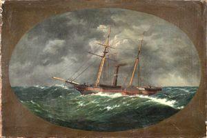 "W.A.K. Martin. The ""Robert J. Walker."" American, 1852. Oil on canvas. Mariner's Museum in Newport News, Virginia."