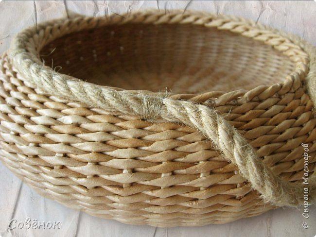 Поделка изделие Плетение Штучки с ручками Бумага газетная Трубочки бумажные фото 8