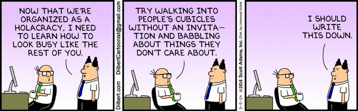 Boss in a Holacracy - The Dilbert Strip for March 5, 2014