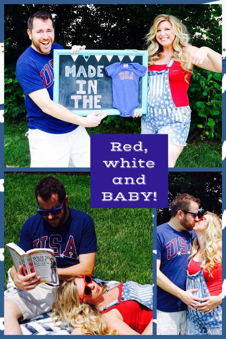 4th of July pregnancy announcement --- http://tipsalud.com -----