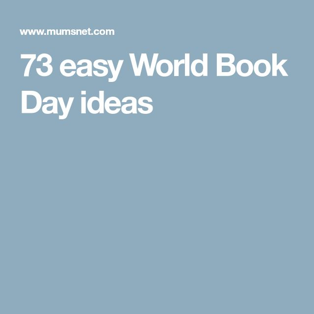 73 easy World Book Day ideas