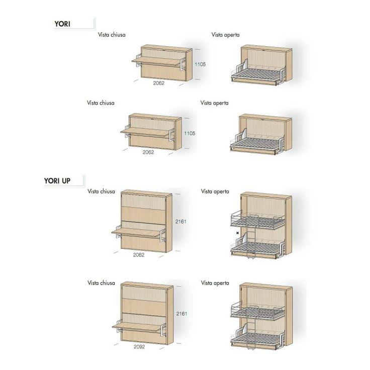 Oltre 25 fantastiche idee su scrivania a scomparsa su - Dimensioni camera da letto matrimoniale ...