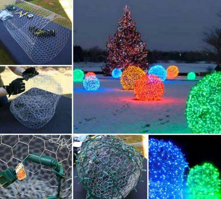 Chicken Wire Christmas Lights Balls Video Chicken Wire