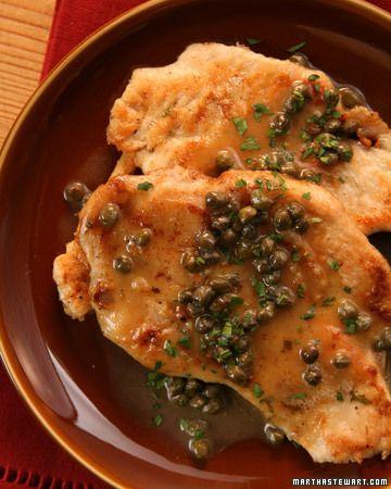 ... time! Chicken Scaloppine with Piccata Sauce - Martha Stewart Recipes