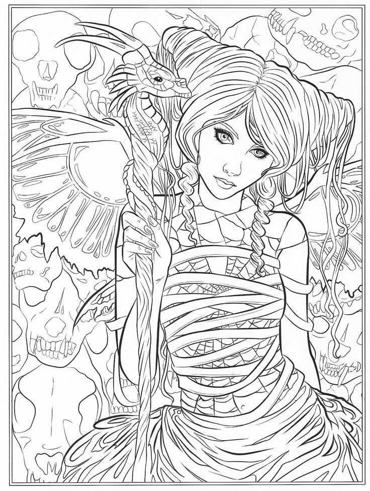 gothic dark fantasy coloring book fantasy art coloring by selina volume 6 - Fantasy Coloring Books For Adults