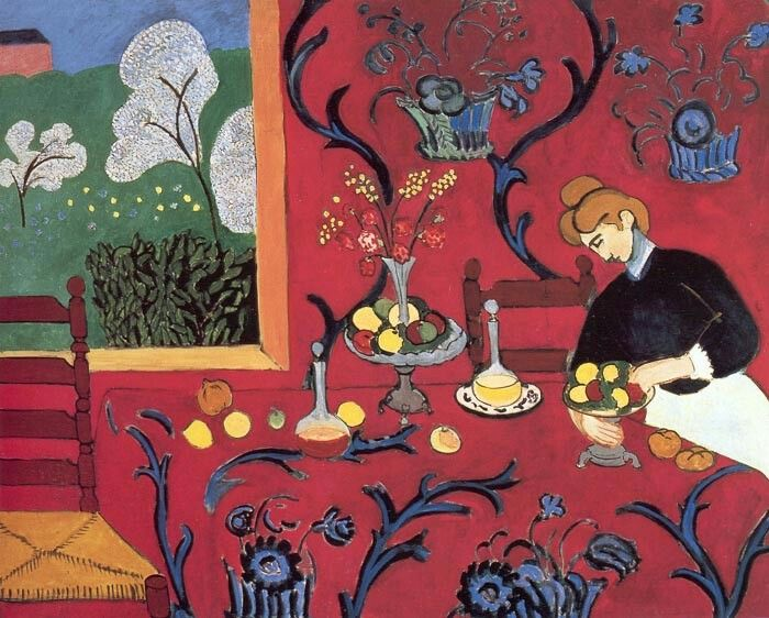 The Red Room (Harmony in Red)  Hermitage, Saint Petersburg 1908