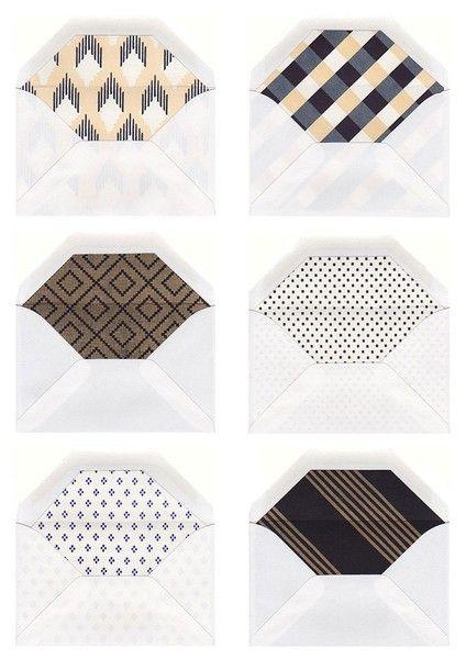 Beautiful envelope inners