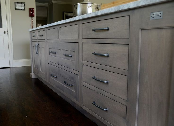 Staining Maple Cabinets Spaces Transitional With White