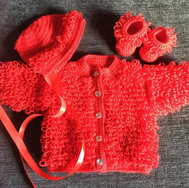 "3 Likes, 1 Comments - ginette (@whoslovinu_yarns) on Instagram: ""#babyshower #babygirl #crochet #loopycardigan #cardigan #babylove #baby"""