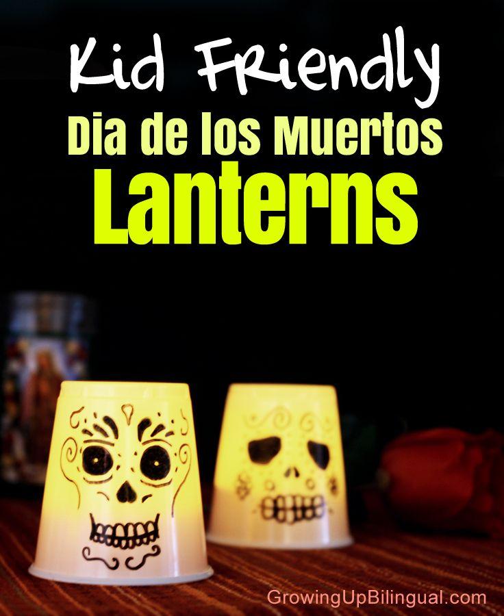 Dia de los Muertos Day of the Dead lanterns craft DIY