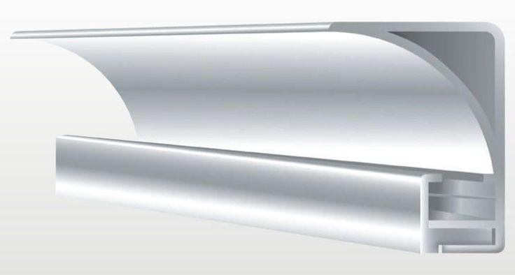 Aluprofil für indirekte Deckenbeleuchtung ohne Klebeschenkel 35mm hoch eckig