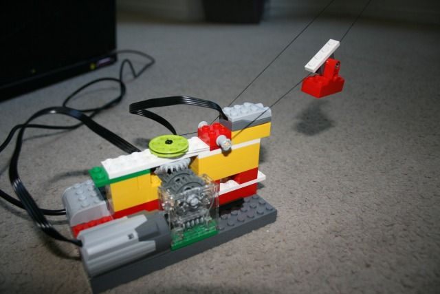 WeDo Lego Cable Car, centrifuge, and rocket.Lego WeDo introduces robotics- We offer this class at our program :)