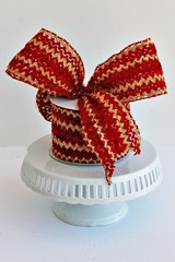 Christmas Red and Tan Crochet RibbonTans Crochet, Cottage Chic, Christmas Red, Finish Touch, Cottages Chic, Crochet Ribbons