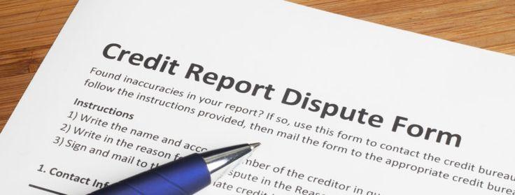 Credit Report Dispute Score Form