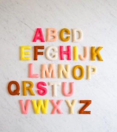 Hand Sewn Felt Alphabet   Purl Soho
