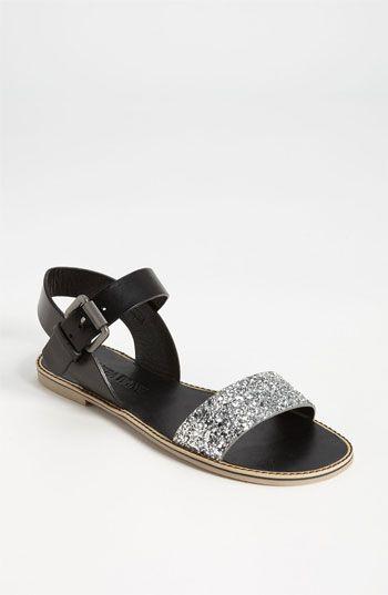 Vera Wang Footwear 'Febe' Sandal (Online Exclusive)   Nordstrom in silver / black $150