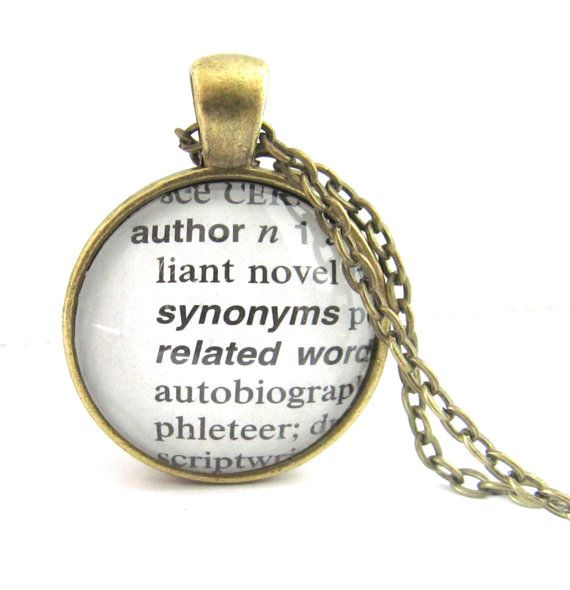 Hey, I found this really awesome Etsy listing at https://www.etsy.com/listing/121070736/author-definition-necklace-writers