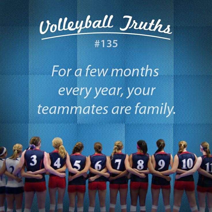 Team means family. #volleyball #truths