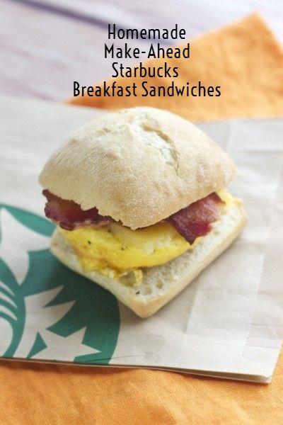 Homemade Make-Ahead Starbucks Breakfast Sandwich