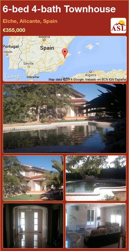 6-bed 4-bath Townhouse in Elche, Alicante, Spain ►€355,000 #PropertyForSaleInSpain