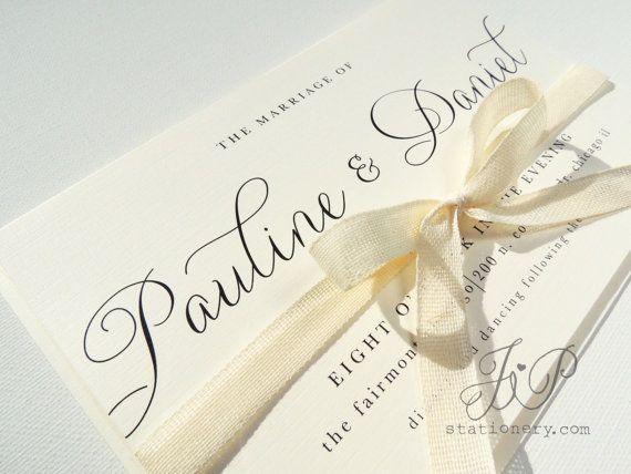 39 best Elegant Wedding Invitations images on Pinterest