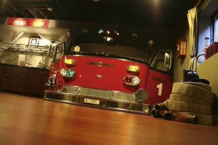 Front of a fire engine!