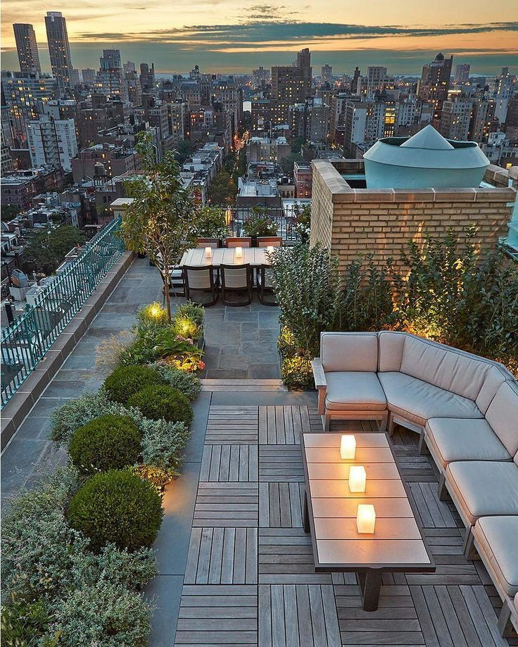 Central Park West #Rooftop in #NewYork City  Tag a friend to bring here! #TheMillionaireLife ---  by Hollander Design Landscape and Architecture.