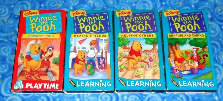 Winnie the Pooh Disney Lot of 4 VHS Video Tapes in Excellent Tested Condition