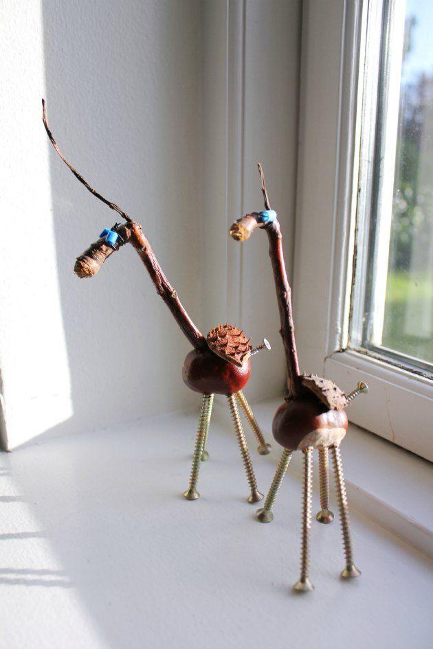 kastanjedyr - foto fra e-bogen Kreative kastanjer Tina Dalbøges kreative idébøger LAV SELV