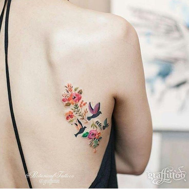"29.8k Likes, 76 Comments - Tattoos (@tattooinkspiration) on Instagram: ""Cute little side back tattoo ❤ @graffittoo"""