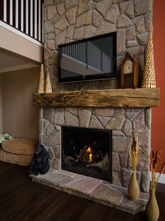 Hand Hewn Century Old Barn Beam Mantel Design Pictures Remodel Decor And Ideas Living Room