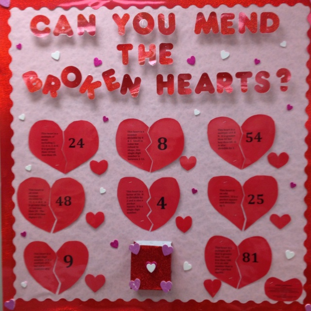 Interactive Math Bulletin Board Example This Heart Is A Multiple