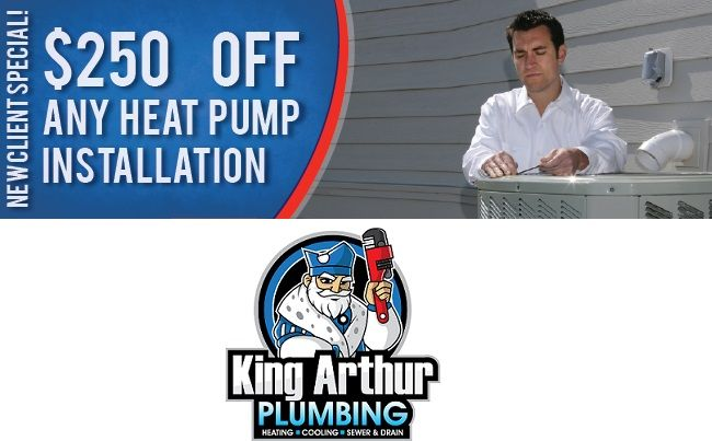 As a leading and licensed company, King Arthur Plumbing offers home heat pump system repairs and maintenance throughout New York and New Jersey.