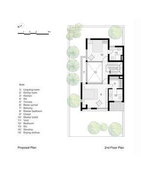 EPV House,Proposal Plan - Second Floor Plan