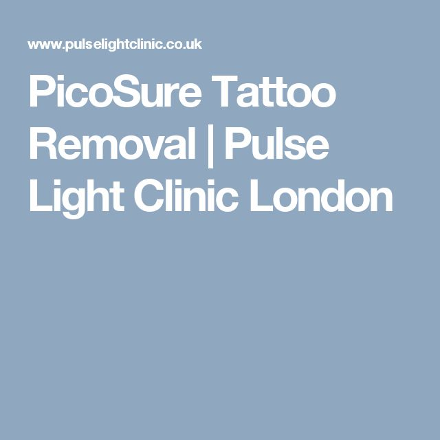 PicoSure Tattoo Removal   Pulse Light Clinic London
