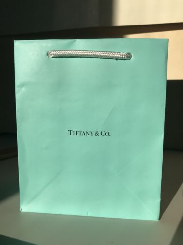 7bd6b9e777 Authentic-Tiffany-amp-Co-Company-Blue-Paper-Jewelry -Shopping-Gift-Wrap-Bag-5-X-6
