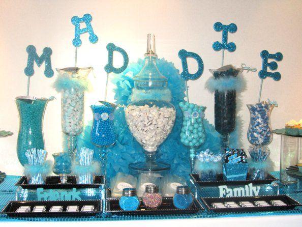 blue quinceaera candy buffet shades of blue quinceaera inspiration pinterest favors