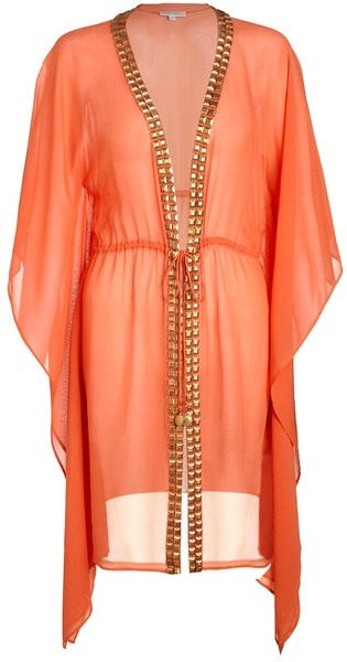 HEIDI KLEIN Brights Orange Embellished Silk Kaftan - Lyst