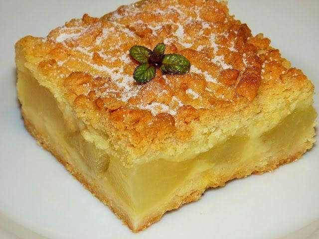 Kulinarne odsłony pati: Kruche ciasto z gruszkami i budyniem
