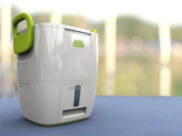 Mini machine à laver manuelle Laundry Pod  http://www.homelisty.com/integrer-lave-linge-deco/
