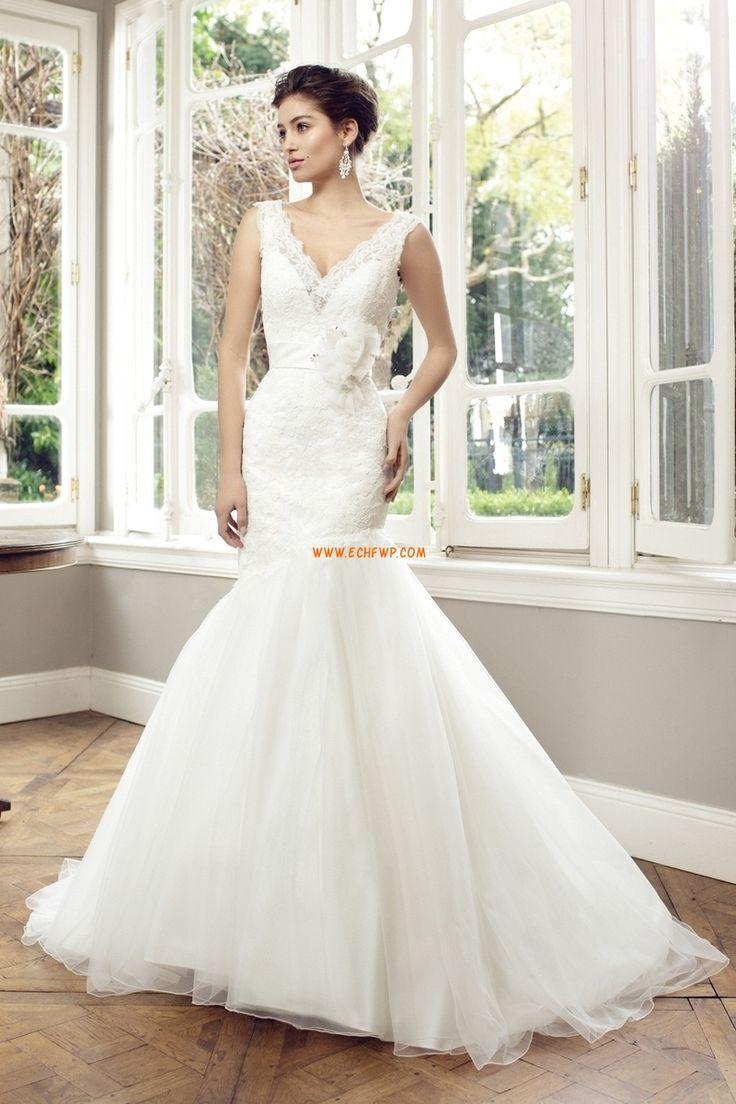 Kyrka Timglas Dragkedja Lyx Bröllopsklänningar