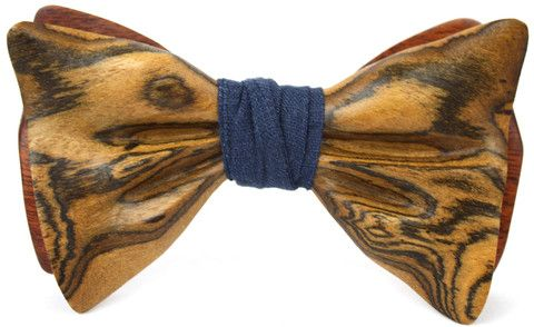 Signature Wooden Bow Tie