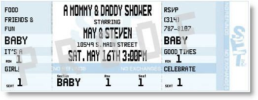 Super cute baby couples shower invite if you're having a boy