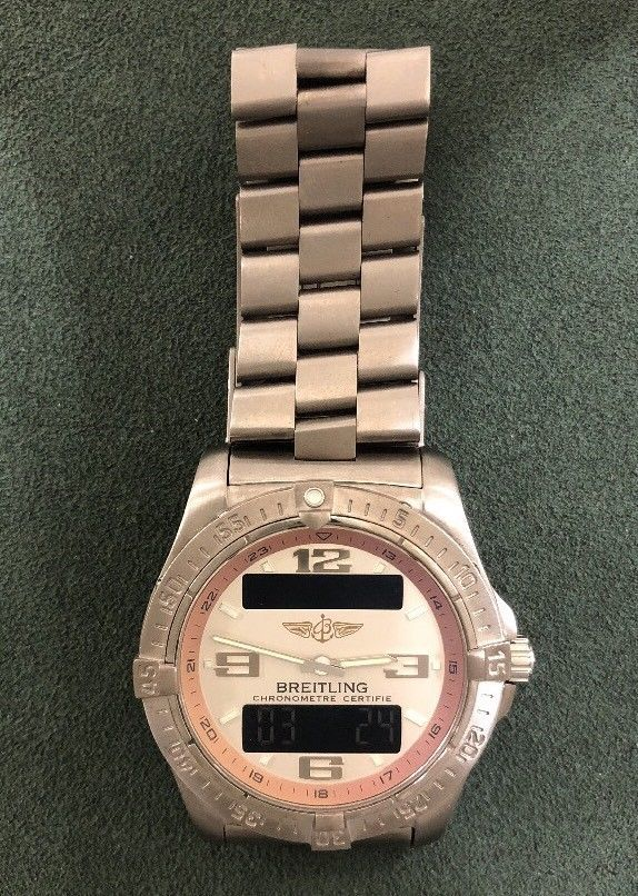 breitling aerospace titanium watch #Breitling