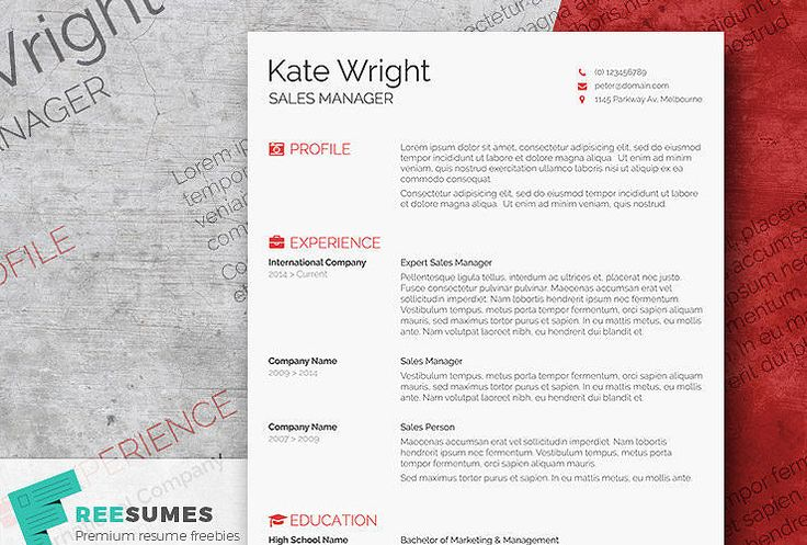Free Resume Template by Hloom Design Pinterest Free resume - free australian resume template